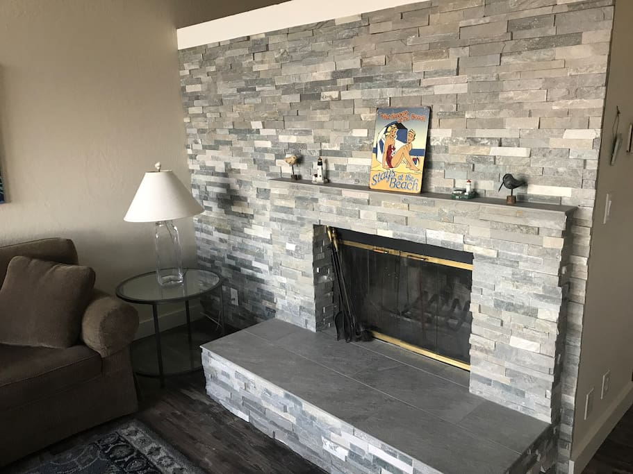 NEW Ledger Stone Fireplace