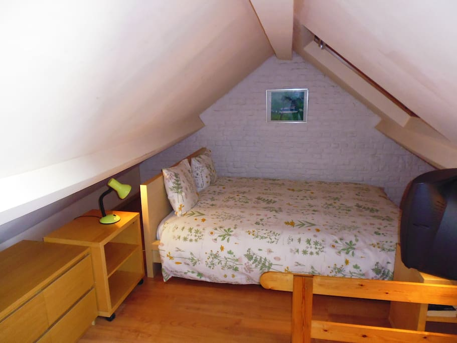 Mezzanine with the big bed