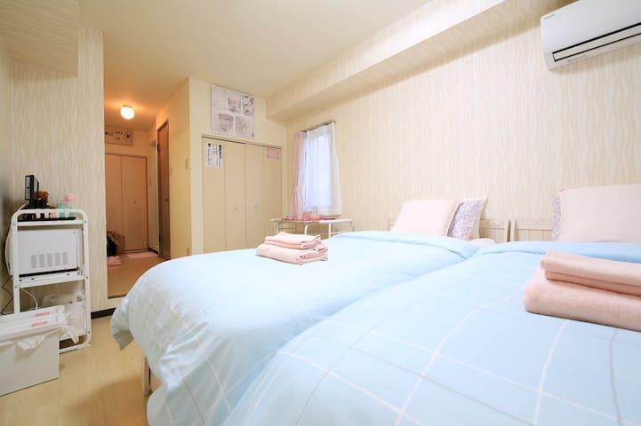 Cleaning¥0!!三宮7min cute room303Wi-Fi