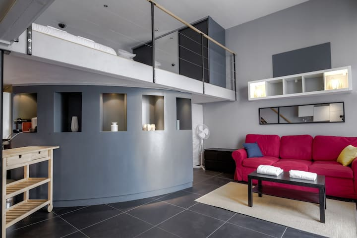 MODERN APARTMENT WITH MEZZANINE NEAR CITY CENTER IN LYON