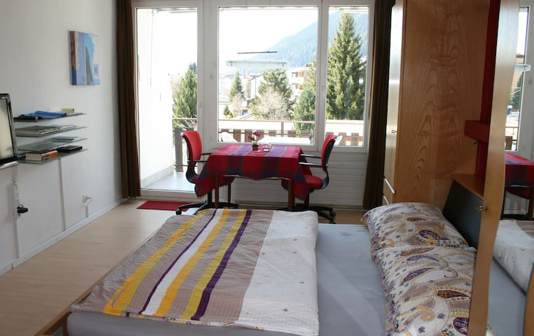 Micro-Appartment WiFi,bath,balcony - Davos Platz - Apartment