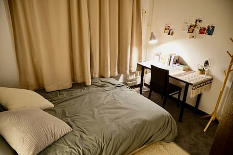 Comfortable room near Tuanjiehu, Hujialou station