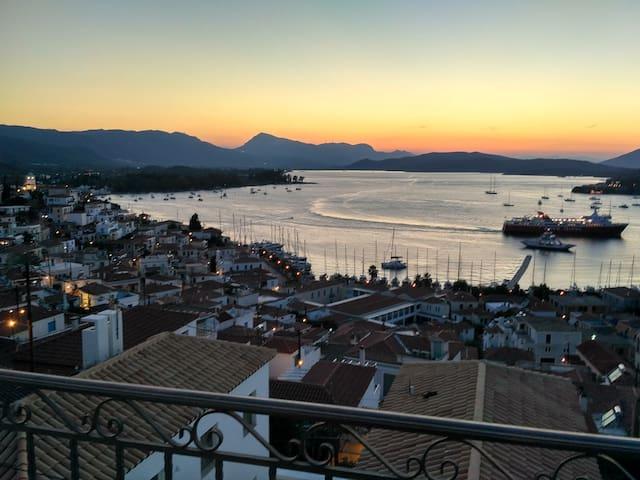 Panoramic view apartment - Poros - Villa