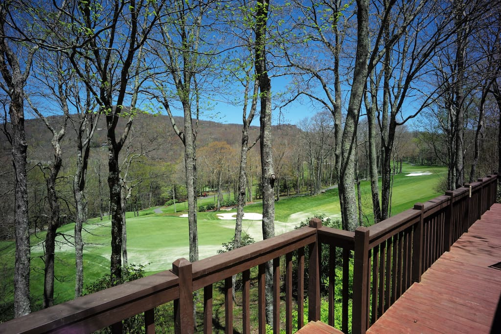 View of 8th hole from deck