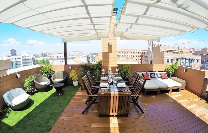 Beautiful apartment - 2 TERRACES- LEGAZPI +Parking