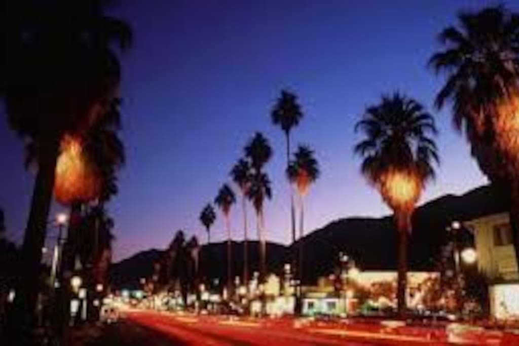 Palm Springs at night. The best time of day!