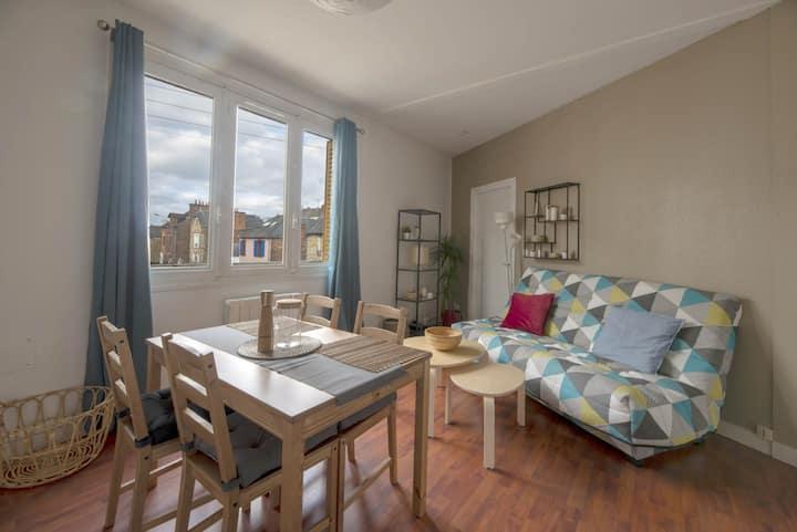 Nice apartment near Rennes station