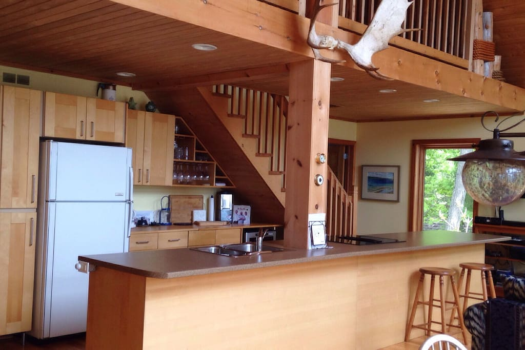 Open Kitchen with a 16 foot island.