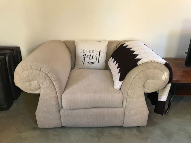 Single seat sofa chair in bedroom