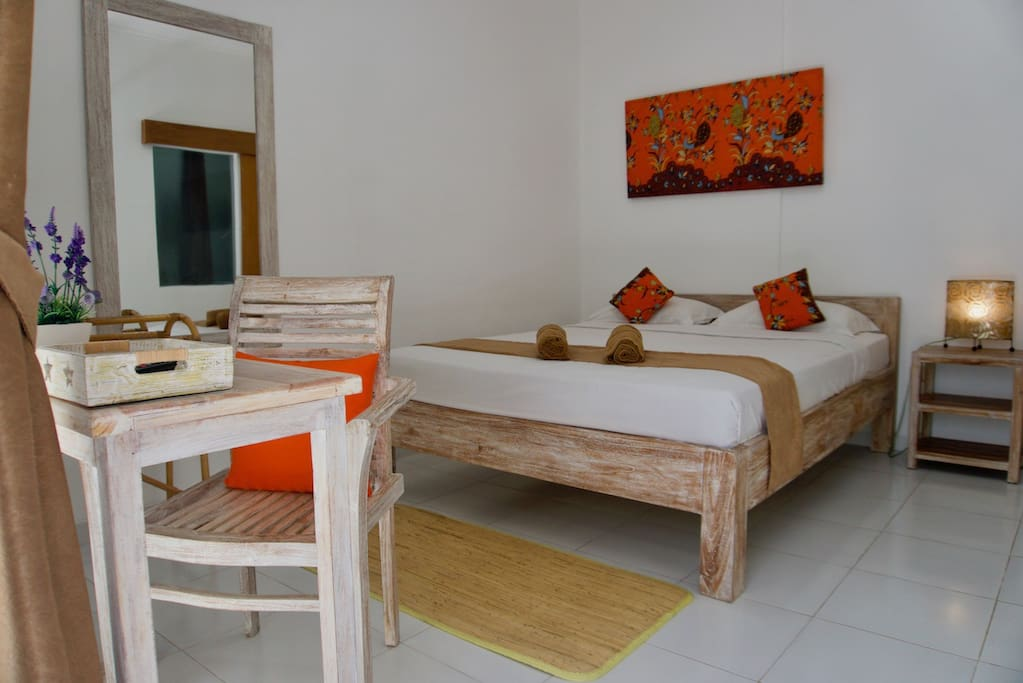 Private ensuite room with AC and TV