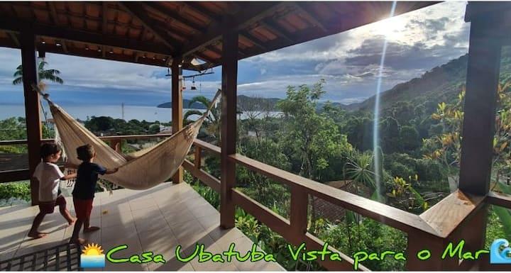Casa Ubatuba vista para o mar!