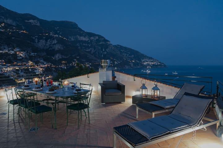 Seaside Villa with terraces and garden