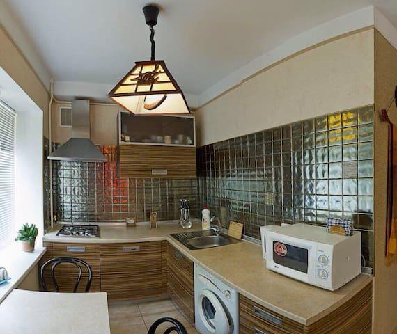 Апартементы на Старокиевском переулке 2 комнаты .