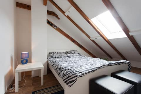 Lovely, basic & affordable attic @ the city center