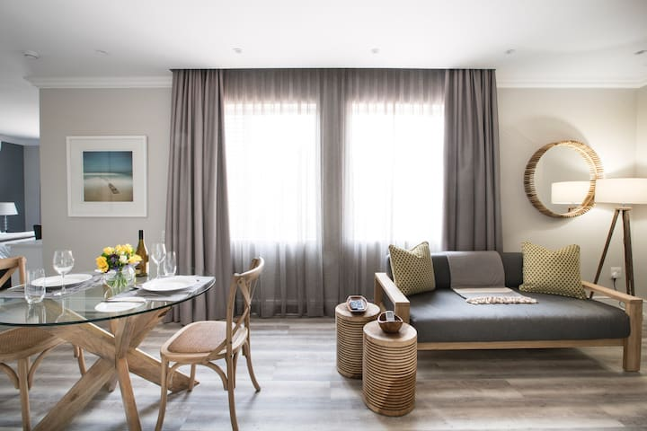 Modern with high-end finishes throughout, our luxury apartment has all the conveniences you would need for a business or leisure stay, including 24-hour high security, secure onsite parking, great Wi-Fi and uninterrupted power & water supply!