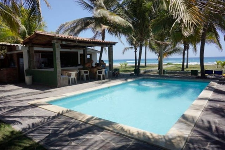 Beachfront pool.