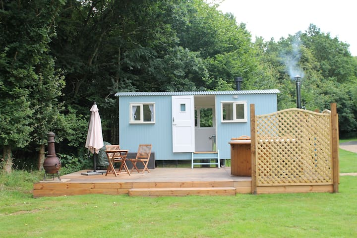 Bluebell the shepherds hut with hot tub - Hampshire