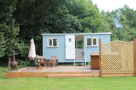 Bluebell the shepherds hut with hot tub - Hut