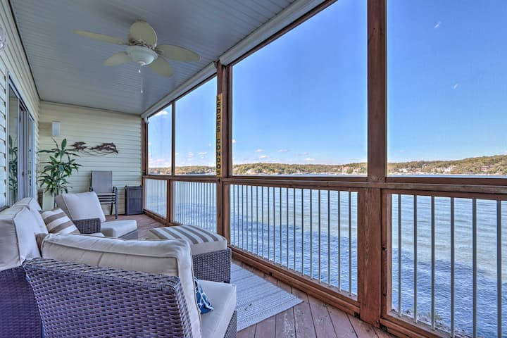 NEW! Modern Osage Beach Condo w/ 2 Porches & Views