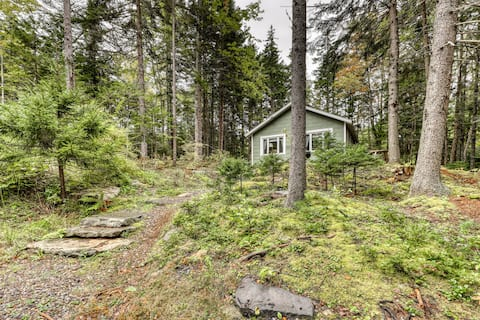 Cozy, dog-friendly cabin w/ a wood burning fireplace & a full kitchen