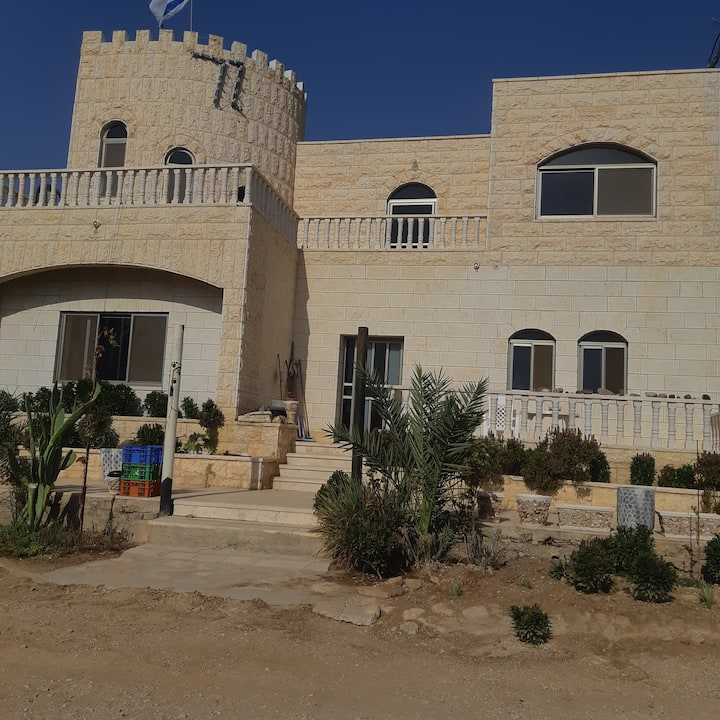 A farm castle in Jordan valley the desert paradise