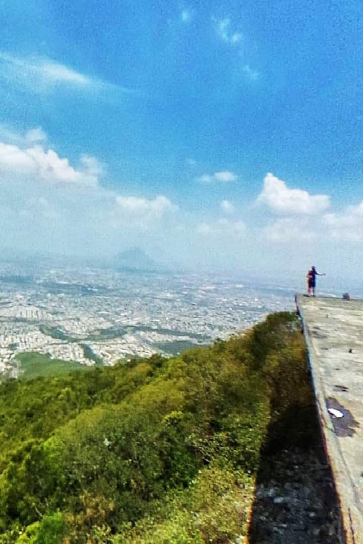 Rest and meet the ruins of cableway