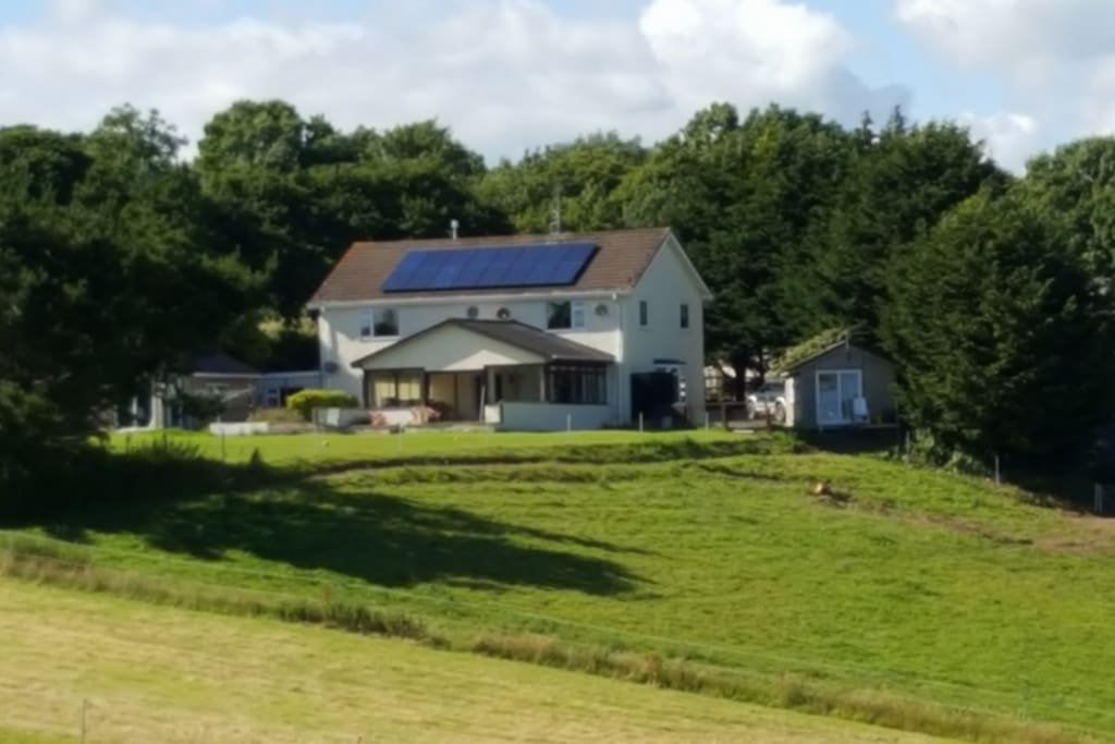 East Leigh, view of the house from the back garden