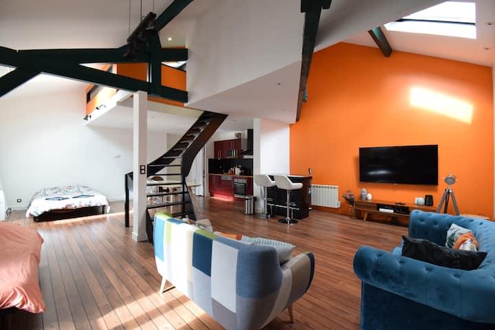 Loft plein centre-ville de 80 m2