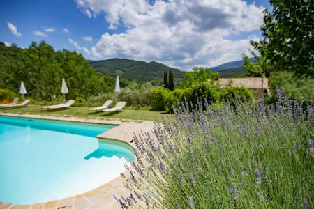 Lovely garden views apartment - Assisi