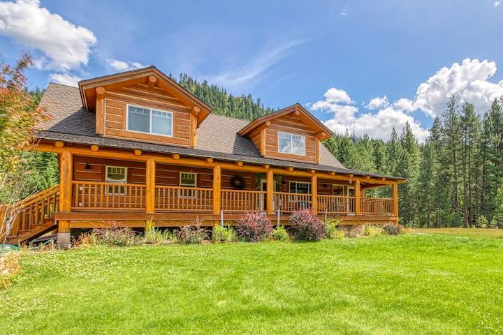 New listing! Dog-friendly log home w/ covered decks - near outdoor recreation!