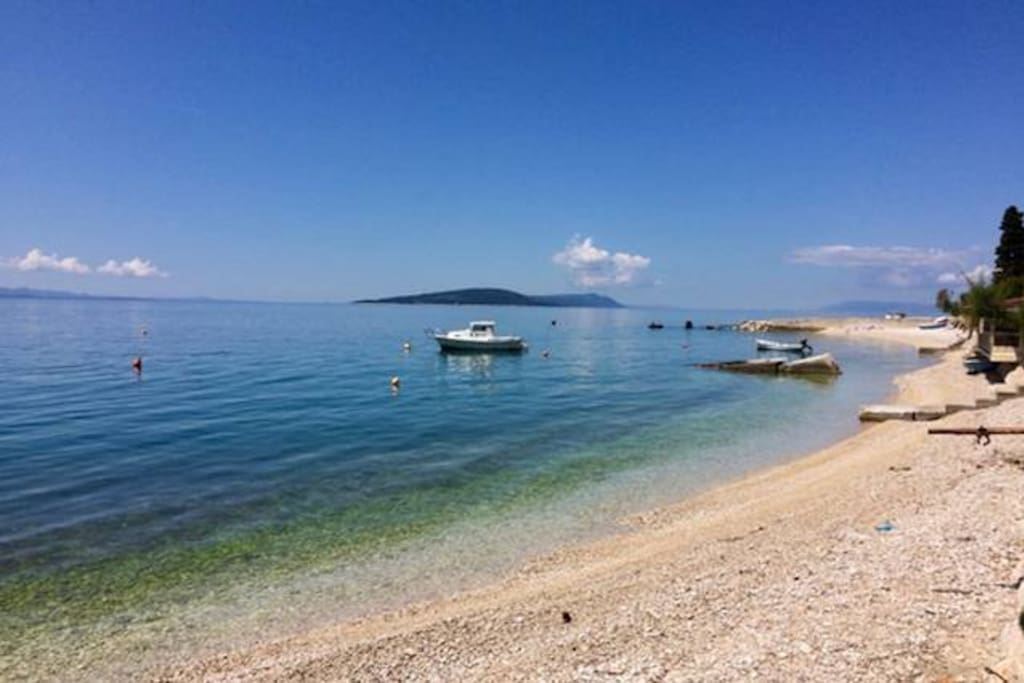 The Adriatic sea - 50 m from our house