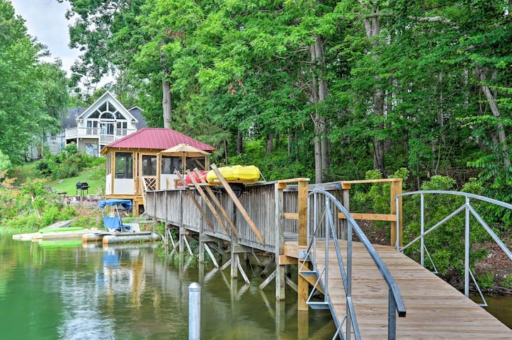 Spend hours on the private dock, kayaking or swimming!