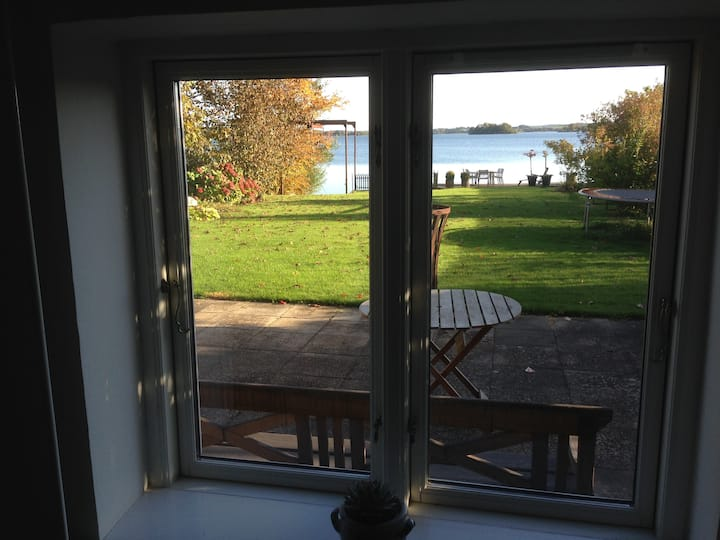 Directly by Skanderborg lake