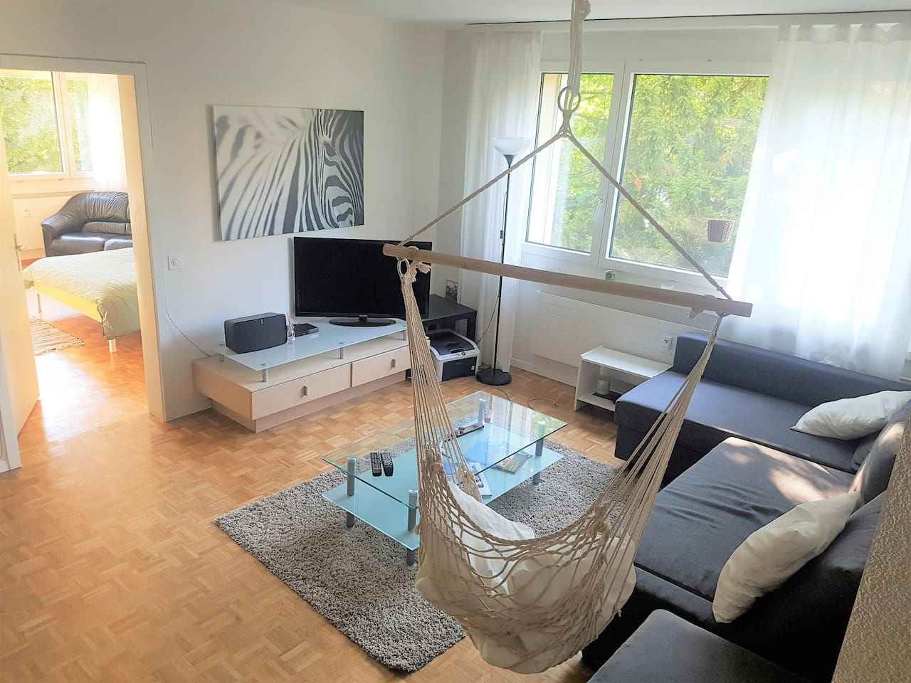 Our bright shared living room