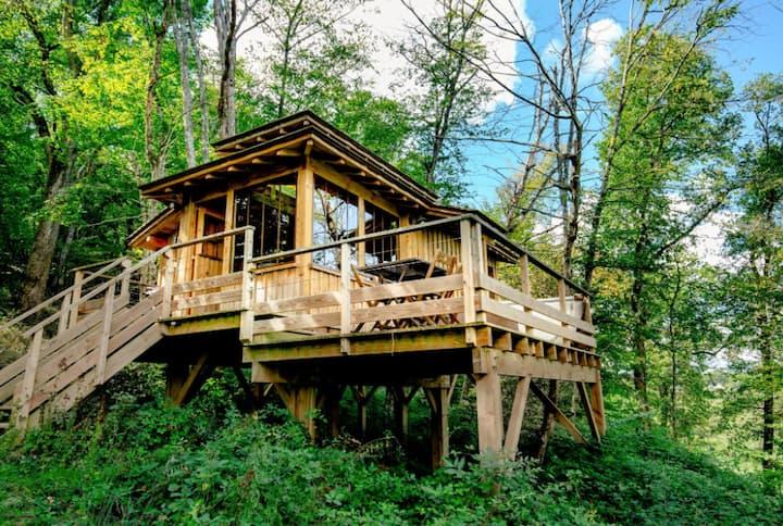 Cabane familiale perchée