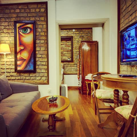 HISTORICAL BRICK WALL ENTIRE APARTMENT