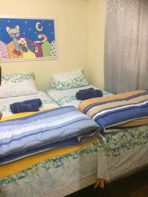 quarto /casal  ou 2 camas box individual