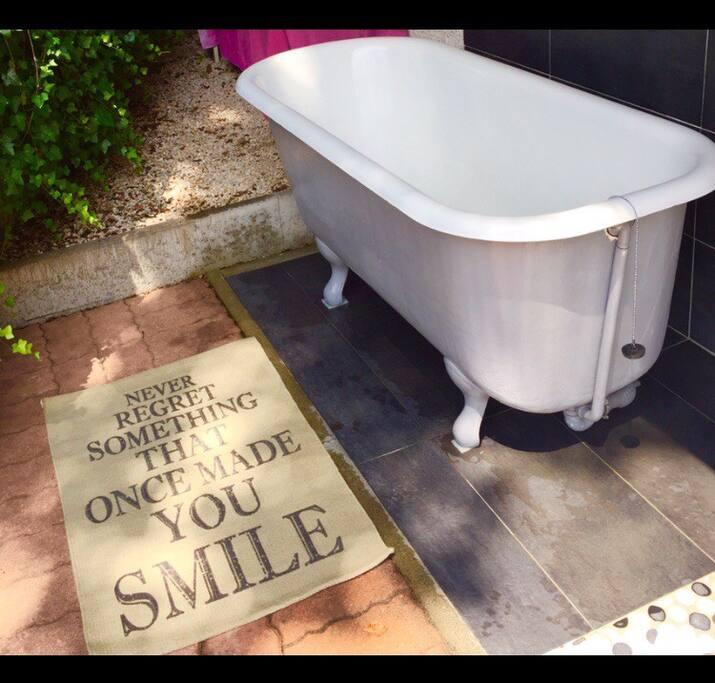 Laissez-vous tenter par un petit bain dehors...