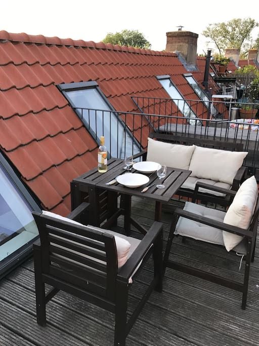 Our lovely little roof terrace