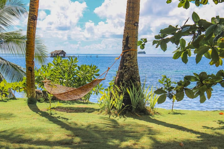 Hammock at the beach front