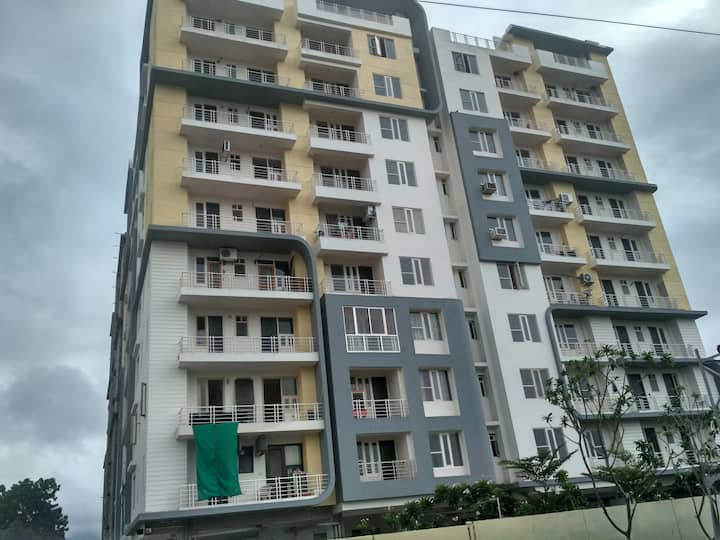 3 BHK with 3 Toilets & 3 ACs Entire Apartment .