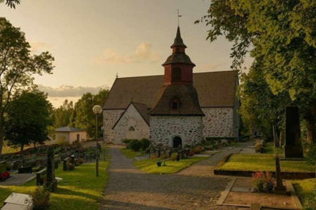 The church of Tenala is the second oldest stone church in Finland.