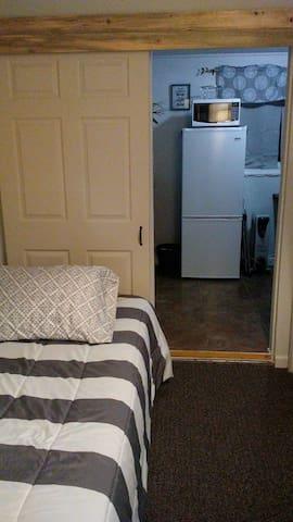 Private mini guest suite,  bathroom & kitchenette.