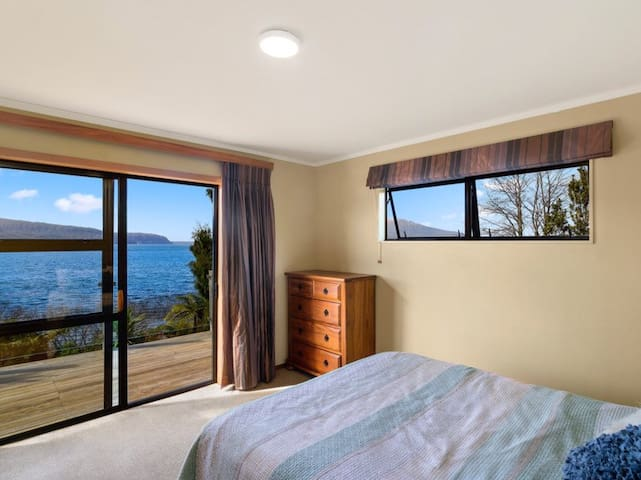 Second bedroom, which also has views of the lake.