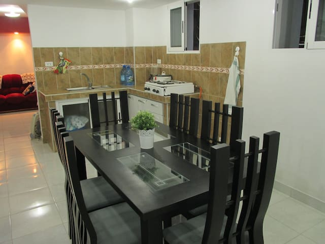 A family kitchen, equipped for you to enjoy the delicious breakfast of Inés