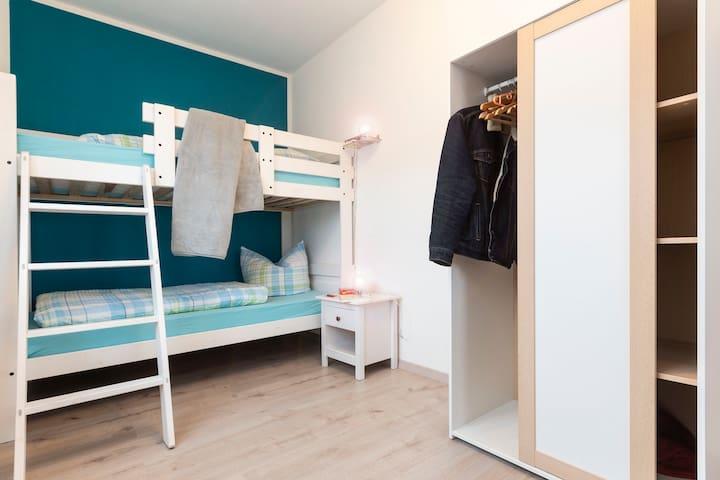 Schlafzimmer II /Etagenbett - Erdgeschoss