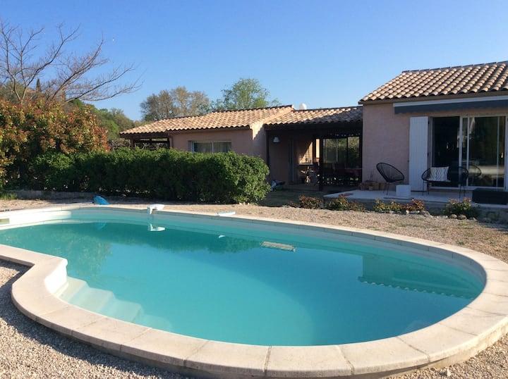 Designer studio with pool