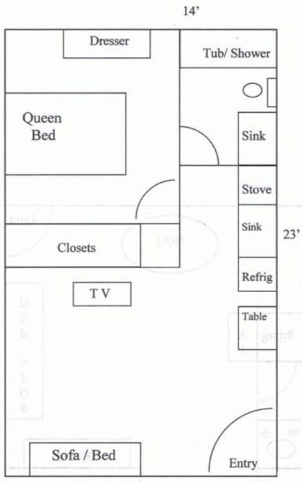 Floor Plan  (Unit may have different furniture arrangement)