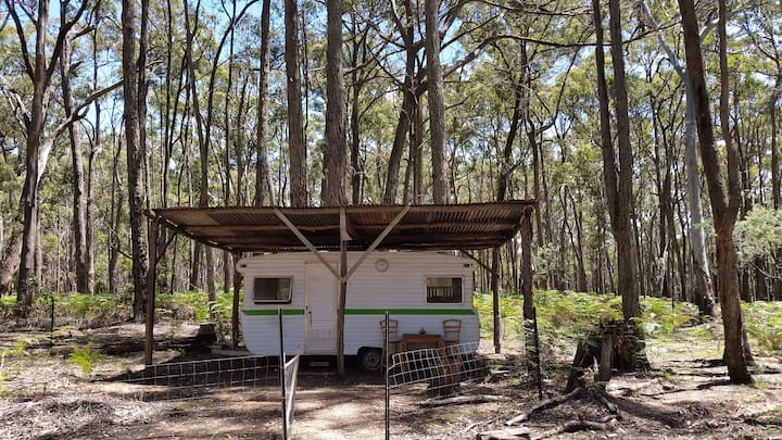 Rustic Private Caravan in the Bush (no shower)