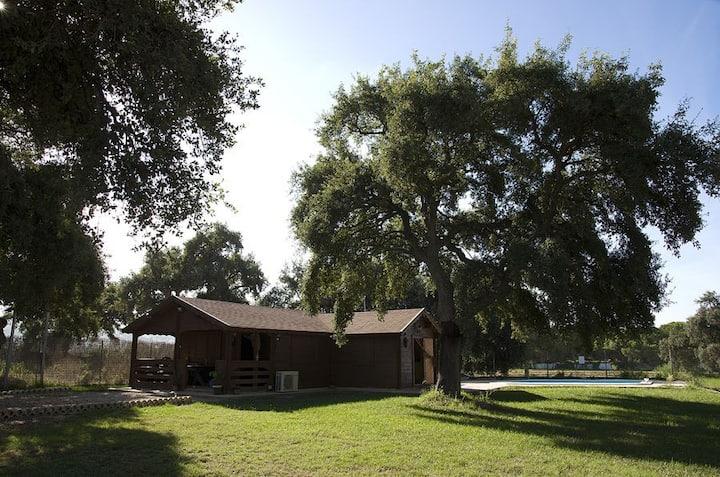 EL CHAPARRO - Casa de madera en plena naturaleza.
